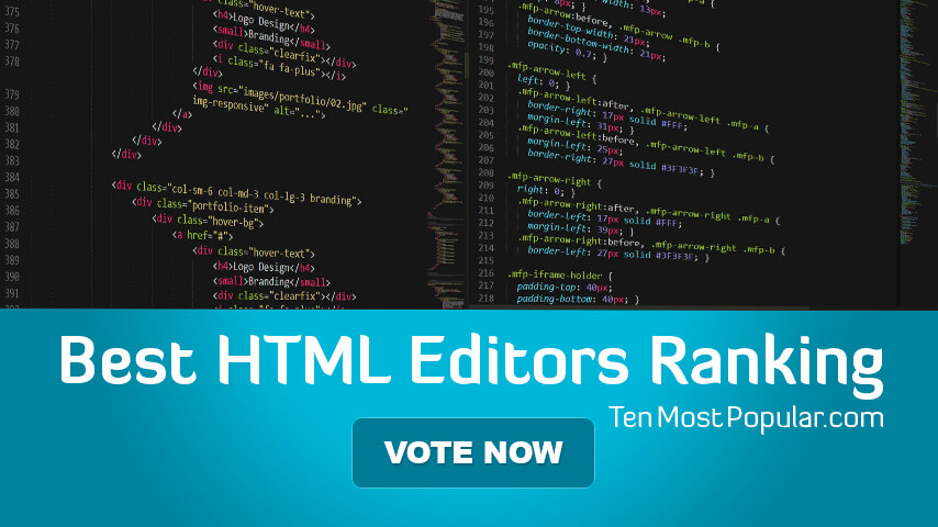 Best HTML Editor   List of Free and Paid Text Editors - Top WYSIWYG