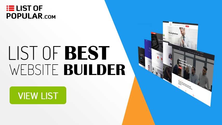 Best Website Builder List | Online Drag and Drop | Do It Yourself